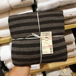 无印良品四件套针织天竺棉条纹被套纯色床单床笠床上裸睡全棉纯棉