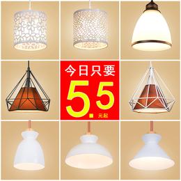 红典餐厅吊灯 现代简约创意吊灯吧台餐吊灯长条圆盘LED个性餐厅灯