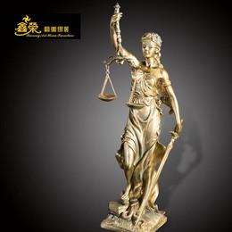 欧式公正司法女神像人物雕塑摆件天平摆设艺术装饰品法院律师会所