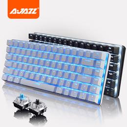 黑爵AK33游戏机械键盘lol背光金属有线82键青轴黑轴笔记本小键盘
