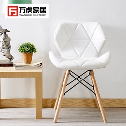 ins椅子创意电脑椅现代简约 书房家用化妆凳子靠背北欧伊姆斯餐椅
