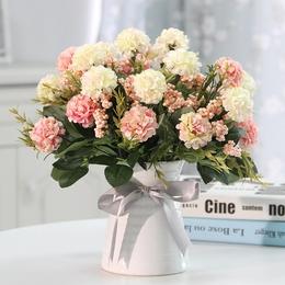 馥郁仿真花玫瑰花艺套装花卉盆栽含花瓶假花装饰绢花客厅餐桌摆件
