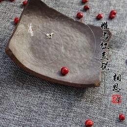 朱砂痣锁骨链红豆项链心形女天然相思豆透明鱼线S925银简约亮红珠