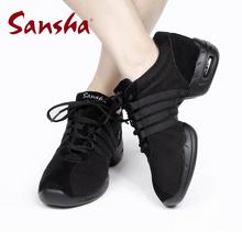 三沙正品新款运动鞋软底网面nj10场舞蹈sy舞增高健身跳舞鞋