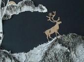 其他画贴贴画大工艺品旅游其他特色工艺品古雅敖鲁桦
