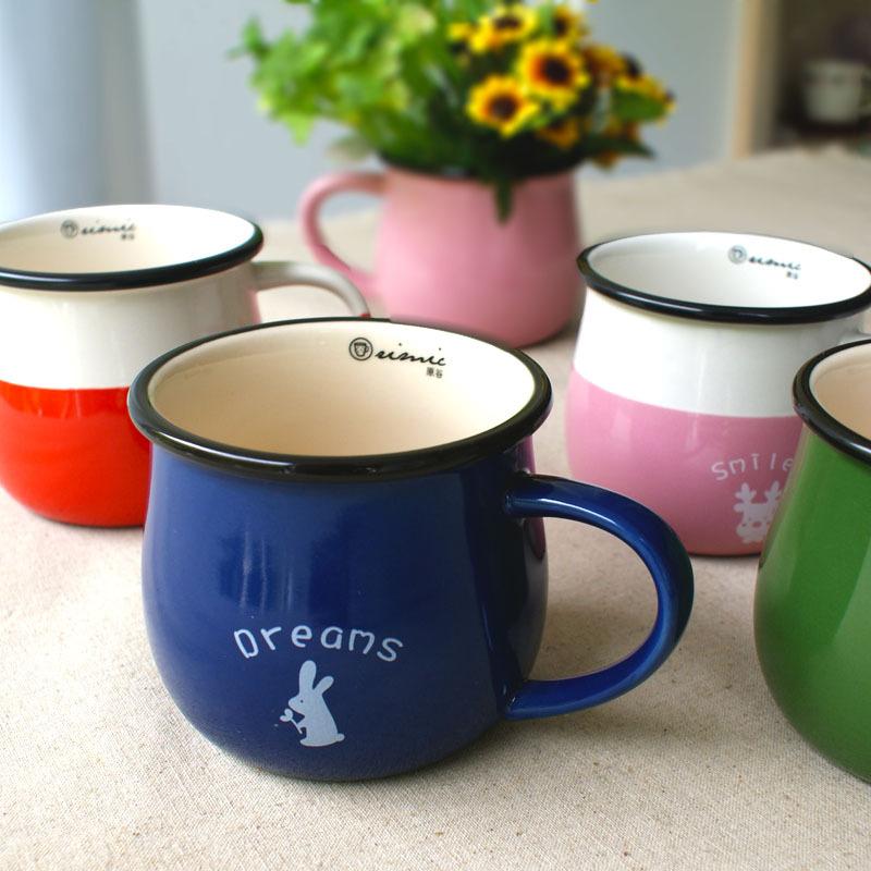 创意陶瓷咖啡杯 欧式套装杯子马克杯水杯红茶杯 卡通动物咖啡杯碟