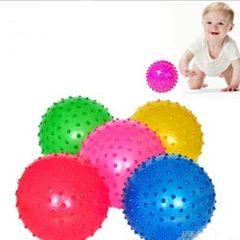 宝宝最爱 洗澡健身按摩球 小皮球 凹凸触感充气皮球 幼儿运动玩具