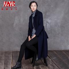 高端双面羊绒大衣女2015新中长款羊毛绒大衣毛呢外套女双面呢