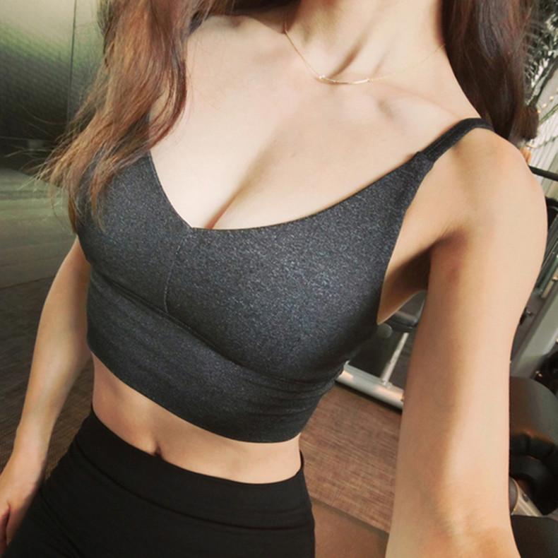 暴走的萝莉 经典SOLO无钢圈塑型聚拢文胸 瑜伽运动内衣健身夏 女