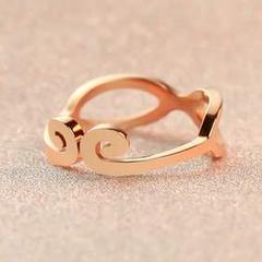 爱你一万年紧箍咒情侣戒指指环镀18K玫瑰金戒指男士对戒婚戒