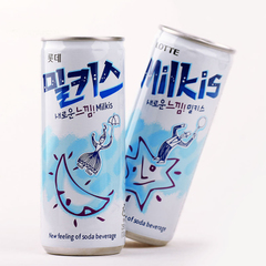 韩国进口牛奶苏打碳酸饮料250ml