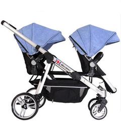 欧洲双胞胎婴儿手推车