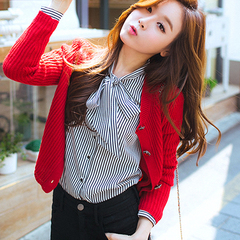 韩版修身长袖针织衫开
