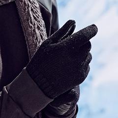 kenmont男韩版潮全指毛线手套冬防寒分指五指羊毛针织手套