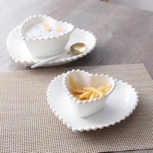 创意陶瓷<span class=H>盘子</span><span class=H>可爱</span>个性异形盘碗<span class=H>套装</span>家用酒店餐具水果沙拉菜盘碟子