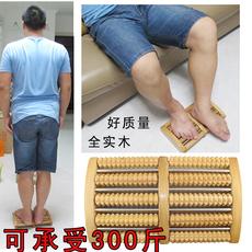 实木制脚底按摩器木质穴位搓排滚轮式足疗机腿部经络刷足底按摩器