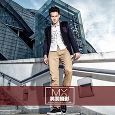 广州内模外景街拍牛仔裤拍摄咖啡厅场景摄影男装体恤休闲装拍摄