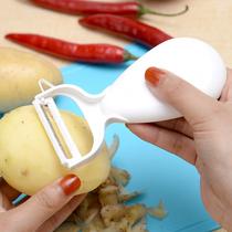 日本KM家用304不锈钢水果削皮器厨房多功能去皮器丝瓜刨皮刀刨子