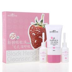 包邮台湾原装SEXYLOOK极美肌草莓粉刺净空组合去黑头 3件套