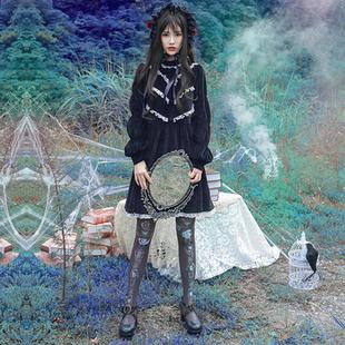 诺里 咒语 哥特暗黑系复古洛丽塔洋装公主裙连衣裙女森系秋冬裙子