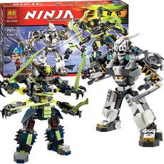 乐高幻影忍者龙系列泰坦机器人大决战拼装益智积木玩具男孩6-14岁