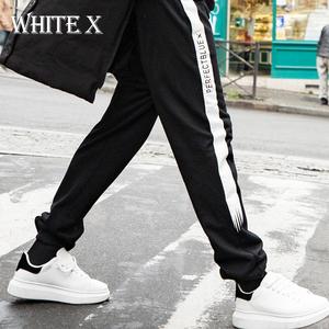 WhiteX潮牌男士运动休闲裤子春秋季束脚哈伦裤宽松嘻哈卫裤小脚裤