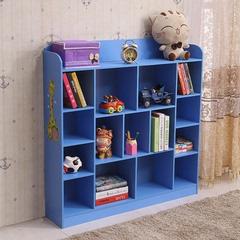 儿童书柜简易书架落地小学生宝宝置物架幼儿园格子架收纳储物柜子