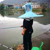 户外垂钓装 备头戴式斗笠钓雨伞便携透气超轻鱼具折叠防雨钓鱼伞帽