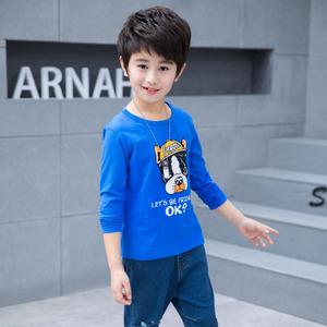新款春秋男童中大童纯棉加薄绒卫衣打底衫长袖T恤儿童保暖上衣