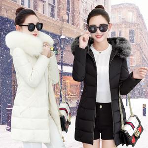 冬装新款韩版羽绒棉服女大毛领外套修身显瘦棉衣中长款大码棉袄潮女式外套