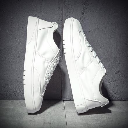 冬季男鞋2017新款小白鞋男潮流韩版休闲鞋子男士白色板鞋百搭白鞋