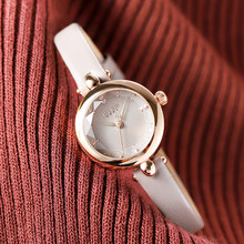 Polychrome Watch 2018 New Trendy Fashion Small dial Cut Mirror Miniature Fashion Quartz Waterproof