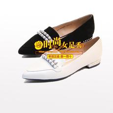 专柜正品千百度女鞋2018春新款低跟浅口女单鞋A8116666 A01A04
