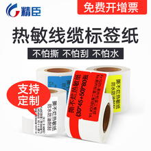 Jingchen b11/B3S Thermal Printing Paper Communication Knife-type Label Paper Sticker Mobile Computer Room Cable Net Cable Tail Fiber Self-adhesive Paper Network Security Switch Waterproof and Tear-proof Customized Cable and Optical Cable