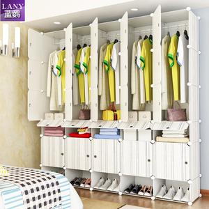 简易衣柜卧室塑料布艺钢架组装衣橱收纳柜子简约现代经济型储物柜