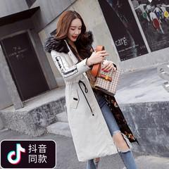 羽绒棉服女中长款2018新款冬季两面穿气质淑女装棉衣过膝修身外套
