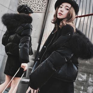 时尚短款羽绒服女韩版2016冬装新款修身显瘦大毛领连帽加厚外套潮
