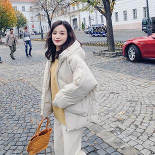 夏奈可可短款棉服女2018新款韩版棉袄女加厚宽松小清新冬季外套女
