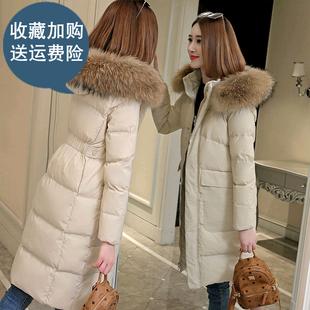 反季加厚新款收腰韩版修身显瘦保暖棉衣女中长款休闲棉服女款外套