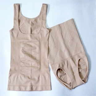 微商同款产后塑身衣分体套装哺乳瘦身美体束缚腰收腹高腰内裤秋冬