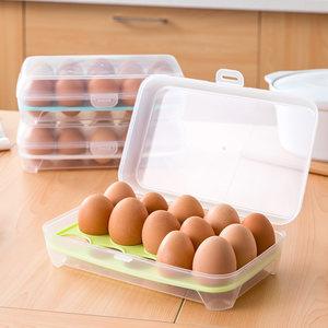 冰箱鸡<span class=H>蛋盒</span>保鲜盒家用鸡蛋托鸡蛋<span class=H>格</span>厨房透明塑料盒子放鸡蛋收纳盒