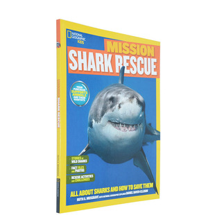 英文原版 美国国家地理 National Geographic Kids Mission Shark Rescue 探索鲨鱼世界