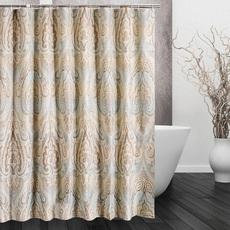 欧式浴帘防水浴室挂帘加厚防霉卫生间洗澡保暖窗帘不透明罗马风格