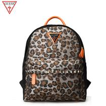 经典 GUESS铆钉双肩包女包时尚 豹纹背包旅行包学生休闲个性 包包
