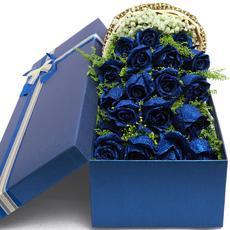 蓝色妖姬鲜花蓝玫瑰礼盒同城速递杭州上海广州成都重庆武汉送花店