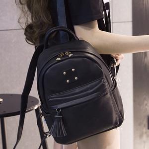 双肩包2016新款韩版流苏学生背包PU皮休闲旅行包学院风书包女包潮双肩包女