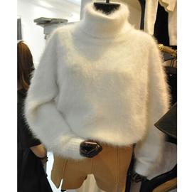 冬装高领毛衣套头宽松加厚毛绒绒