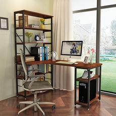 包邮简约家用台式转角电脑桌宜家书桌书架组合学习桌现代办公桌子