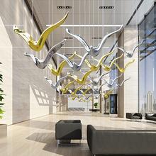 优雪创意现代海鸥空中吊饰家居客厅天花板挂件装 饰品酒店商场中庭