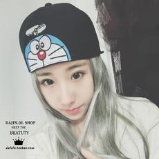 帽子女明星同款韩版嘻哈帽街舞帽卡通平沿鸭舌帽春秋冬季棒球帽潮